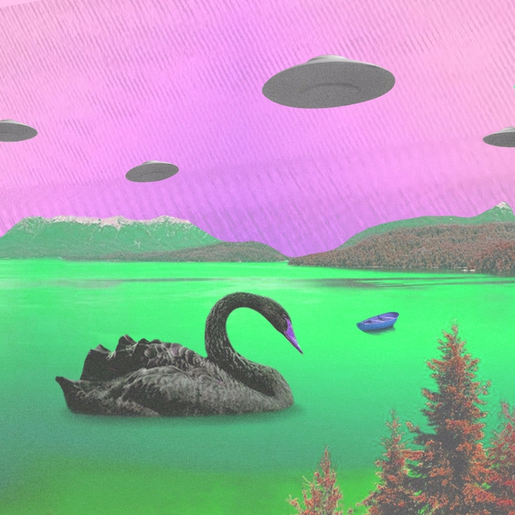 GREEN LAKE - design, collage, lake - valenvq | ello