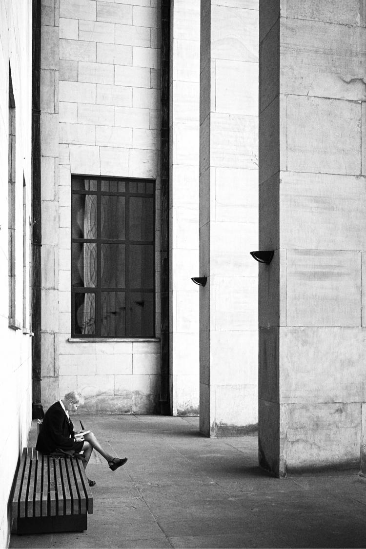 Bench - streetphotography, blackandwhite - bartekbuzuk | ello