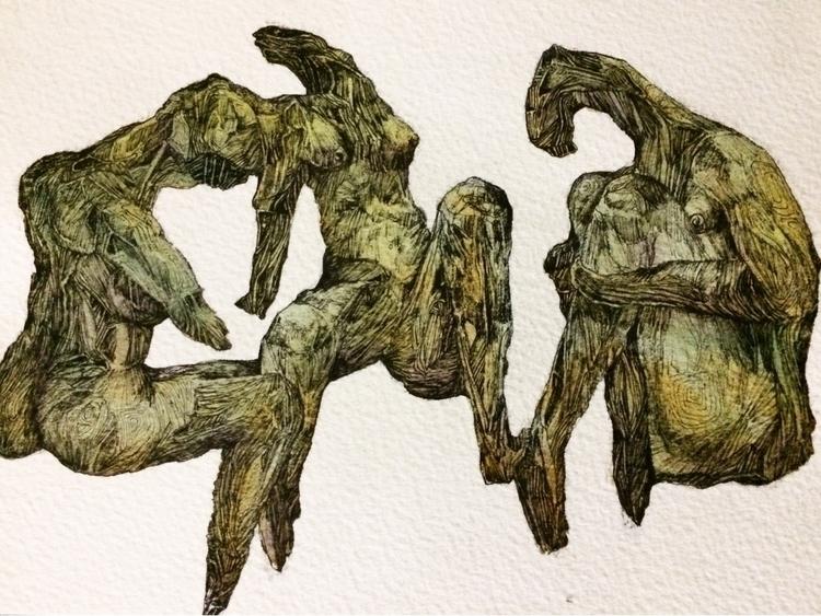 Title: conversation - watercolor - jacobbayneartist | ello