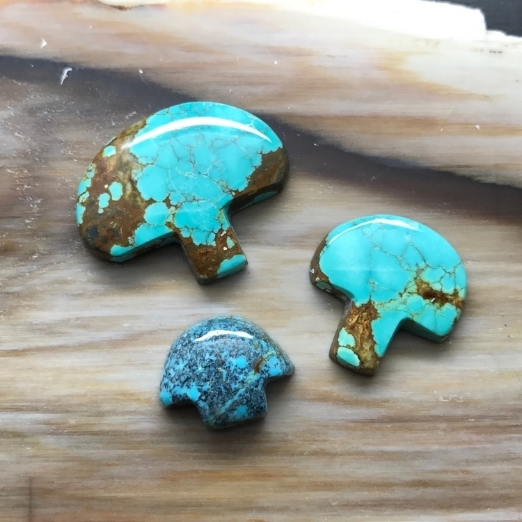 Turquoise Mushrooms!! handmade  - stonephase | ello