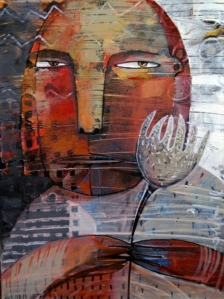 "laukiu"" waiting) acrylic canvas - jolitacc   ello"