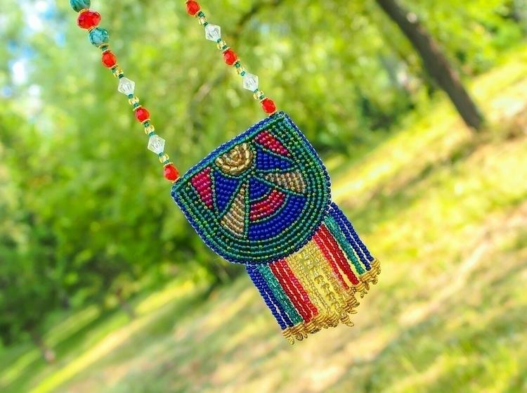 loved embroidering necklace, cu - craftydandelion   ello