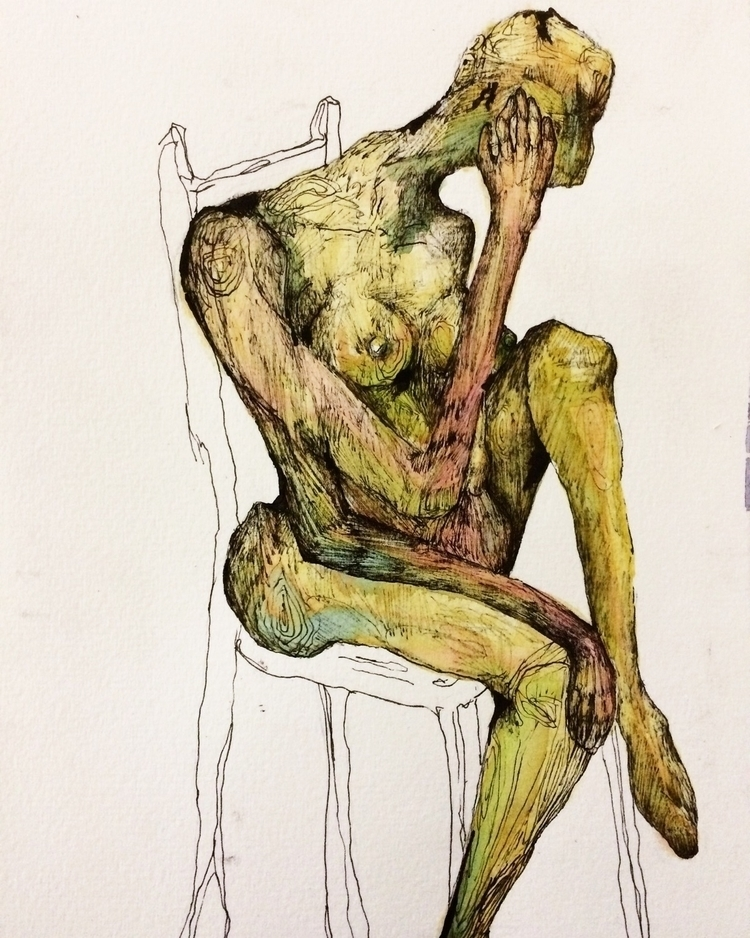 Title: Thinking Chair - watercolor - jacobbayneartist | ello
