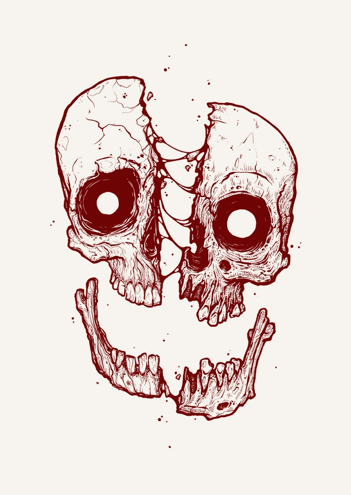ATE skull // silkreen print col - esze_ate | ello