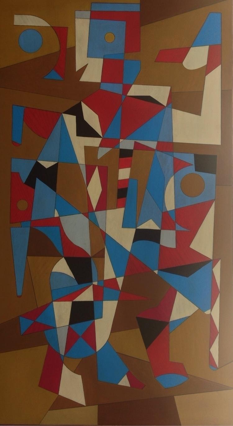 'Red, White Bleu' Acrylic Wood  - rd23artes | ello
