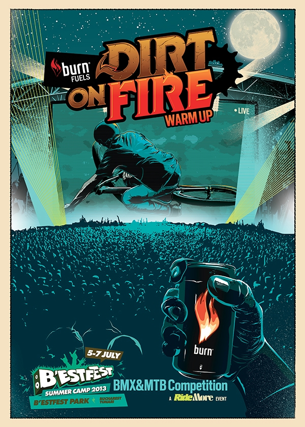 Dirt Fire poster - burn, dirtonfire - medoks | ello