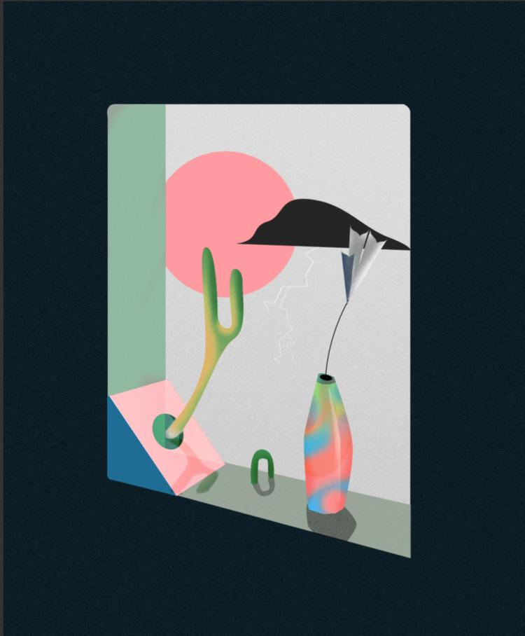 swallow lies, 2017 - art, illustration - esdanielbarreto | ello