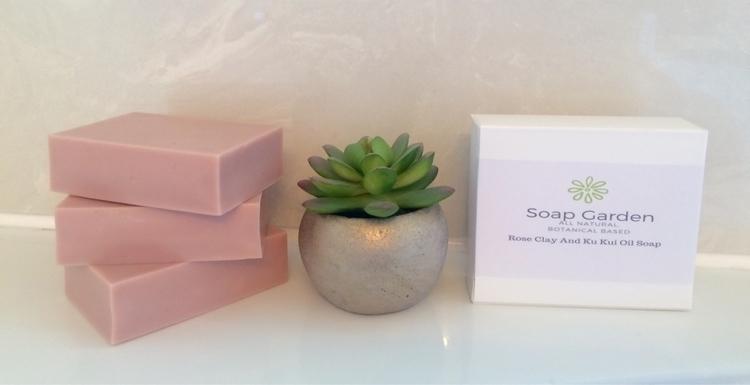Rose clay Ku Kui oil soap scent - soapgardenbycarley | ello