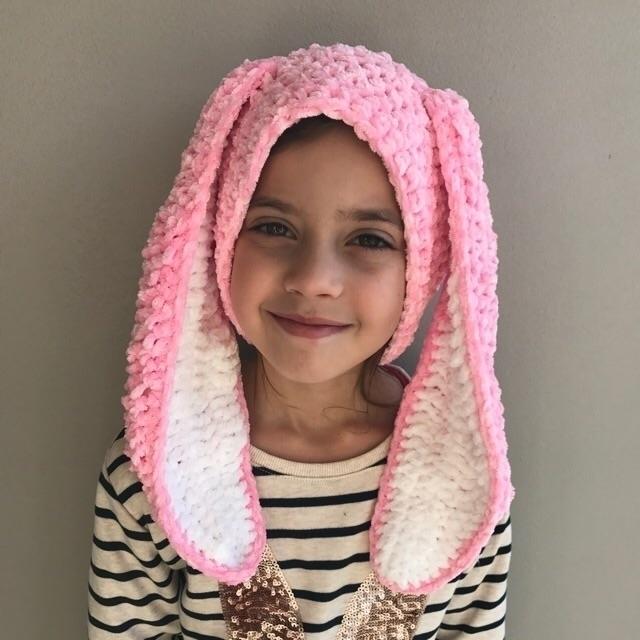 fluffy bunny - candy pink slouc - kshandmadelove | ello
