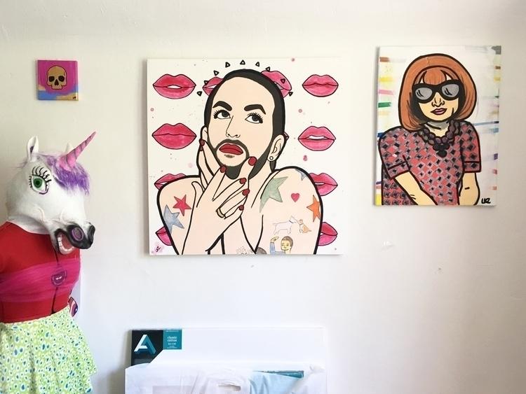 30 acrylic Marc Jacobs white wa - lizkellyzook | ello