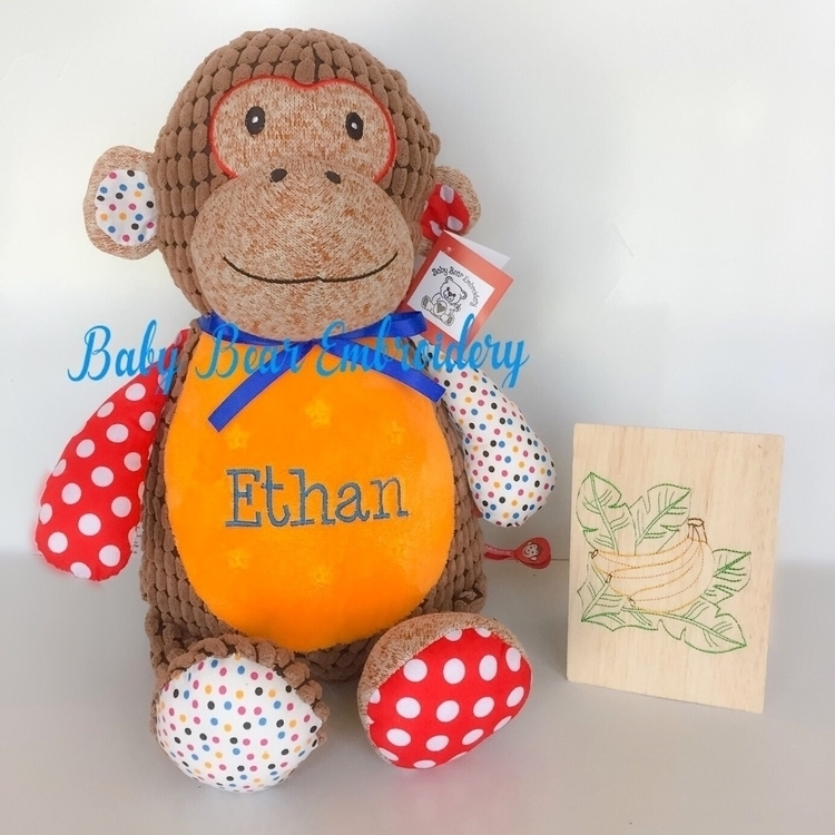 love cheeky monkey Ethan  - babybearembroidery - babybearembroidery | ello