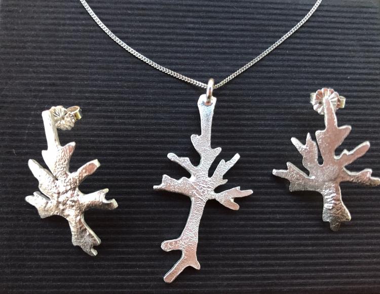 Sterling Silver Tree Earrings N - justrocksandcoral | ello