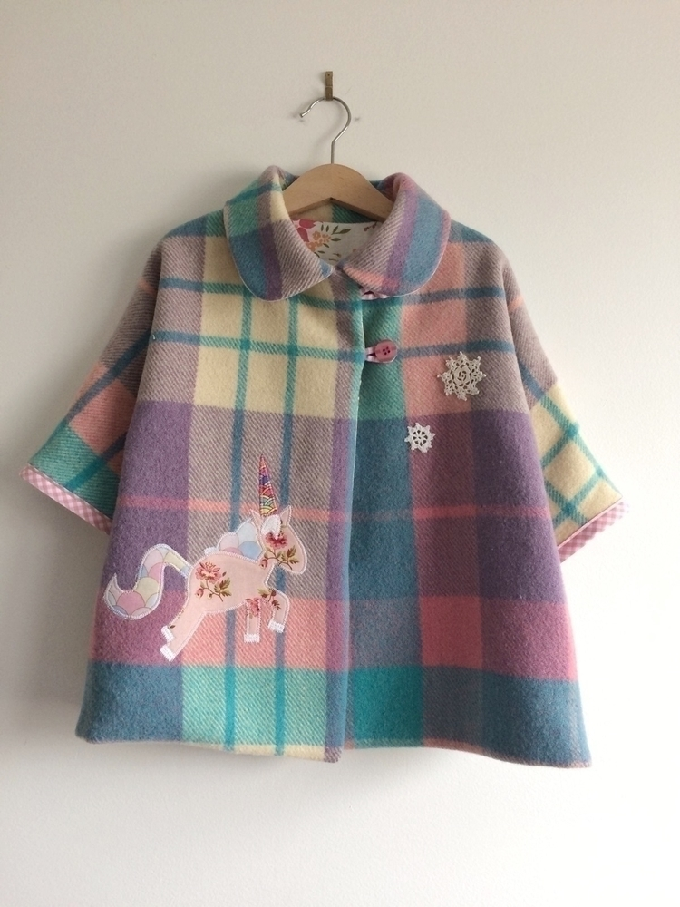 snowflakes unicorn wool blanket - velvetsemporium | ello