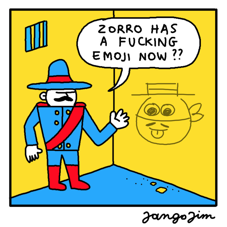 Random Monday Cartoon - zorro - jangojim | ello