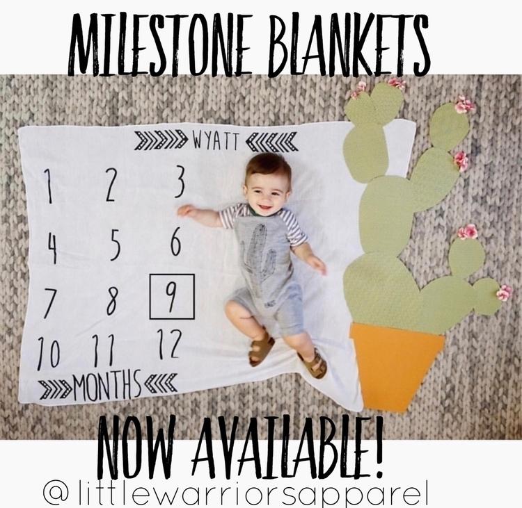 Milestone Blankets order shop!  - littlewarriorsapparel | ello