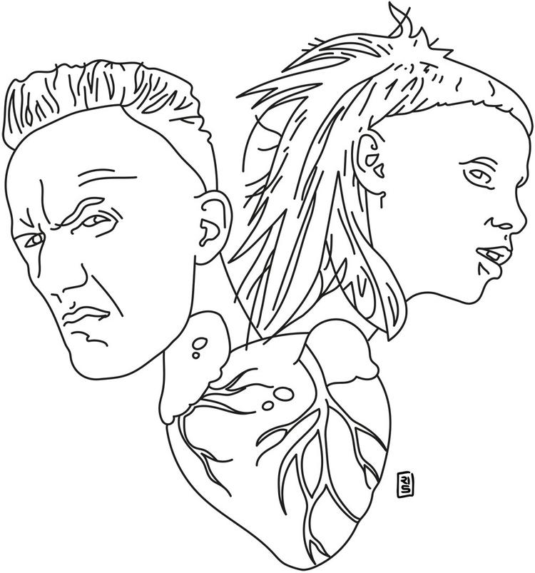 Die Antwoord - illustration, drawing - rivasinge | ello