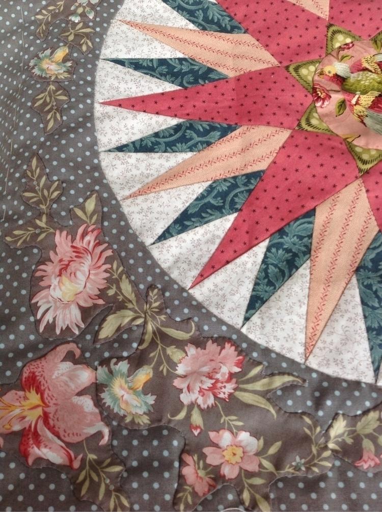 Broderie Perse stitching marine - stitcherydo | ello