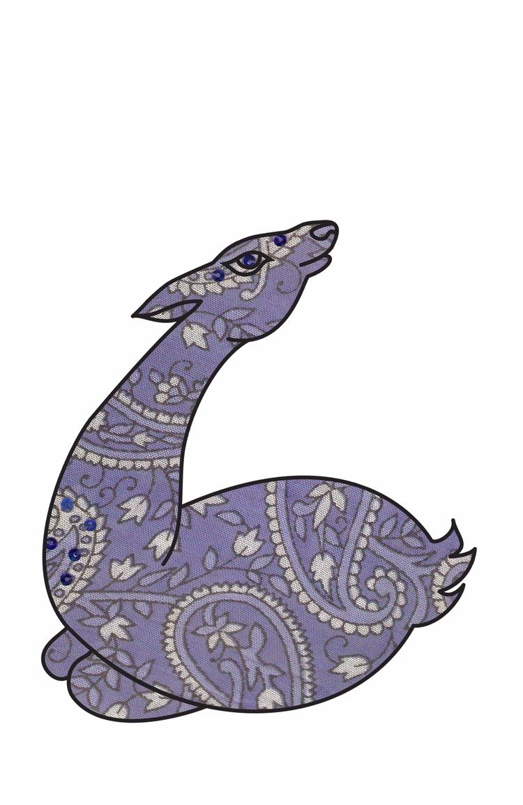 Lavender Paisley Deer. today.  - haleh_creates | ello