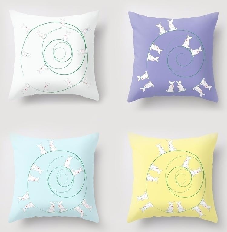 Funny Bunnies, Mint Green, Lila - haleh_creates   ello