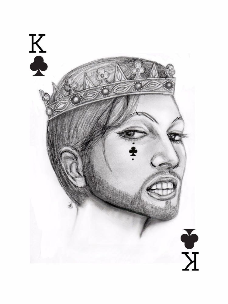 King Clubs - portrait, illustration - klbell | ello