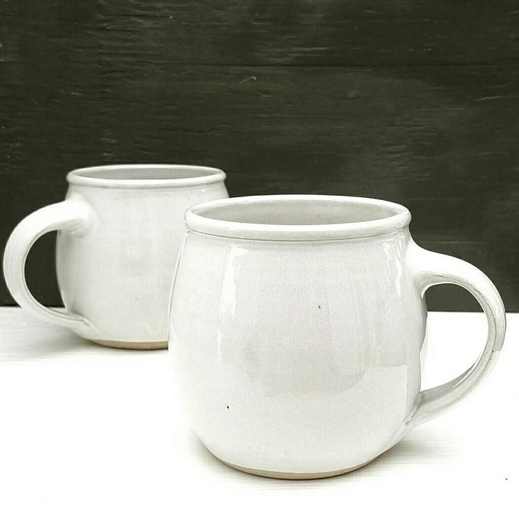 handmade white stoneware potter - jdwolfepottery   ello
