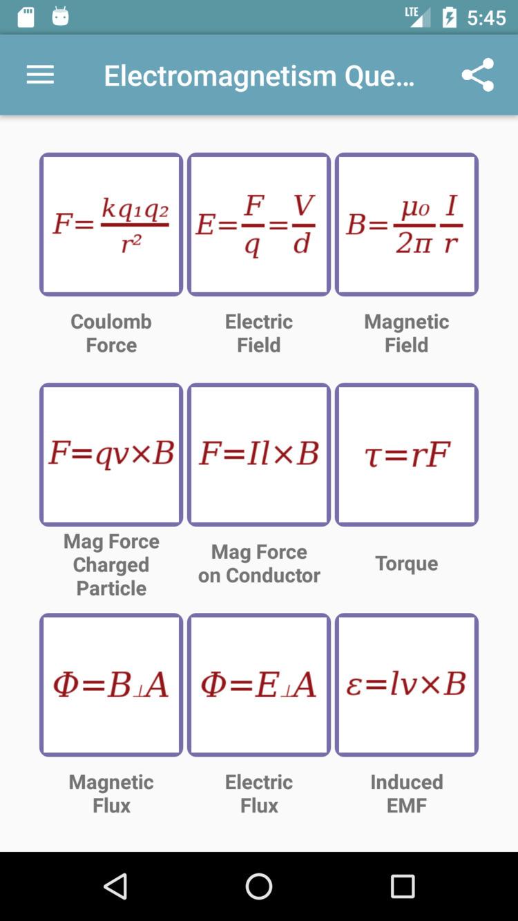 Electromagnetism Questions app  - drmichaeltodd | ello