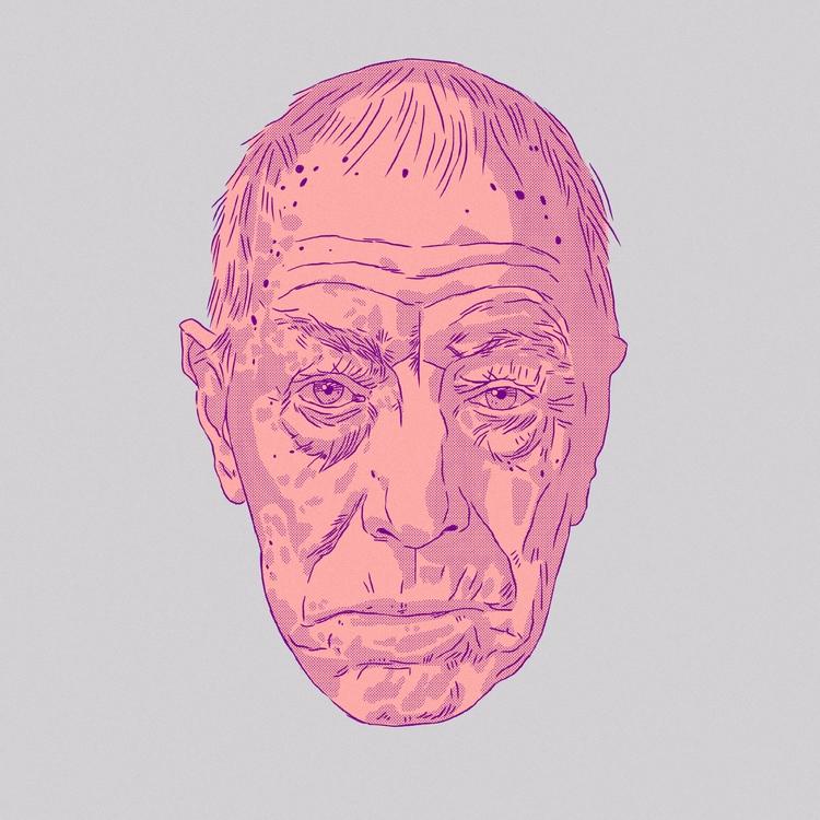 Max von Sydow / Raven - lineart - mrbraintree | ello