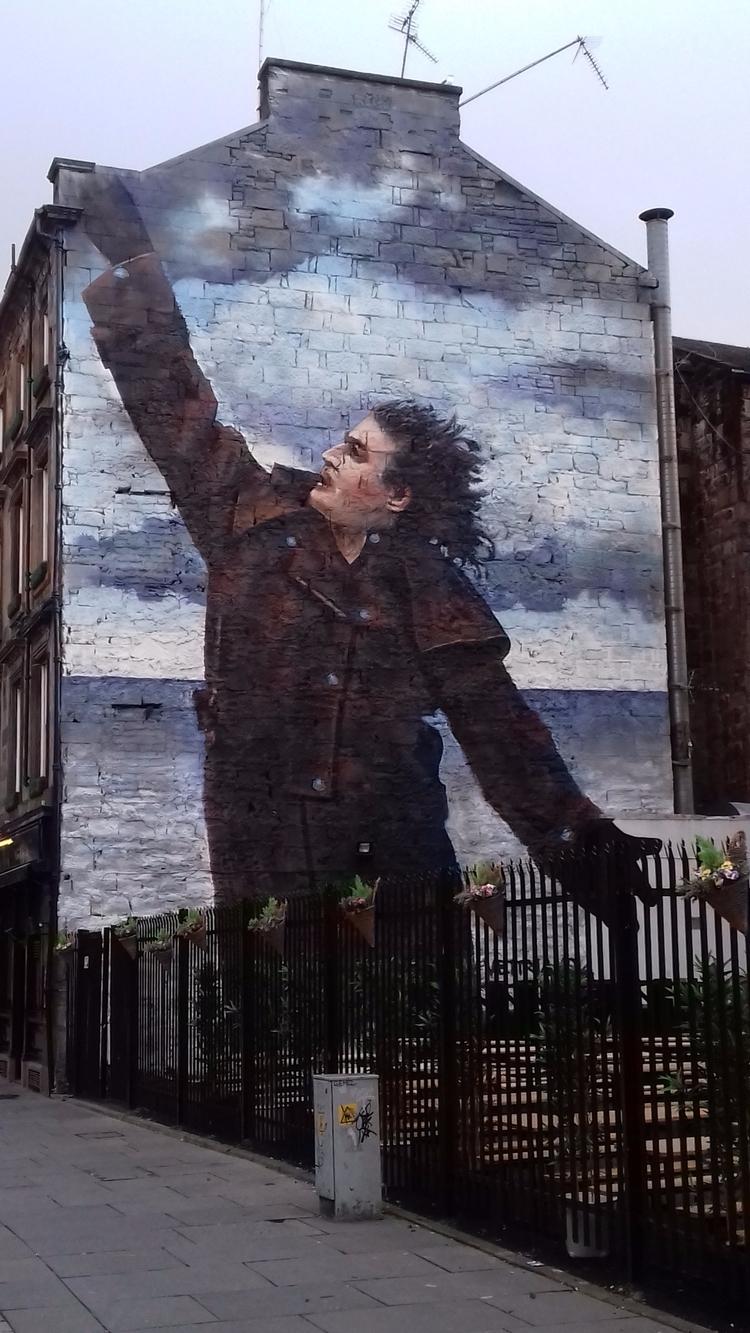 Billy Connolly mural - Glasgow, streetart - hippy66 | ello