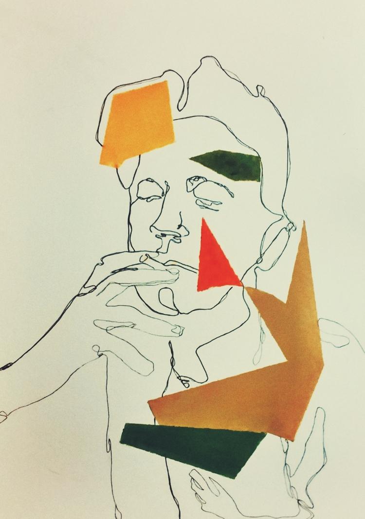 Jean Cocteau ///// *ink oil pap - guiart | ello