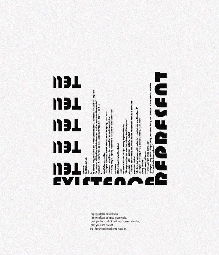 Represent - typography, design - emmanuelachusim | ello