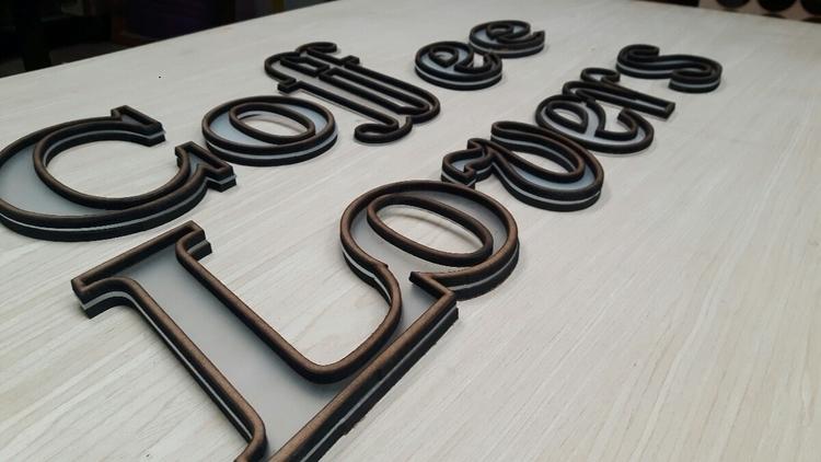 work progress sign making typog - unoestudio | ello