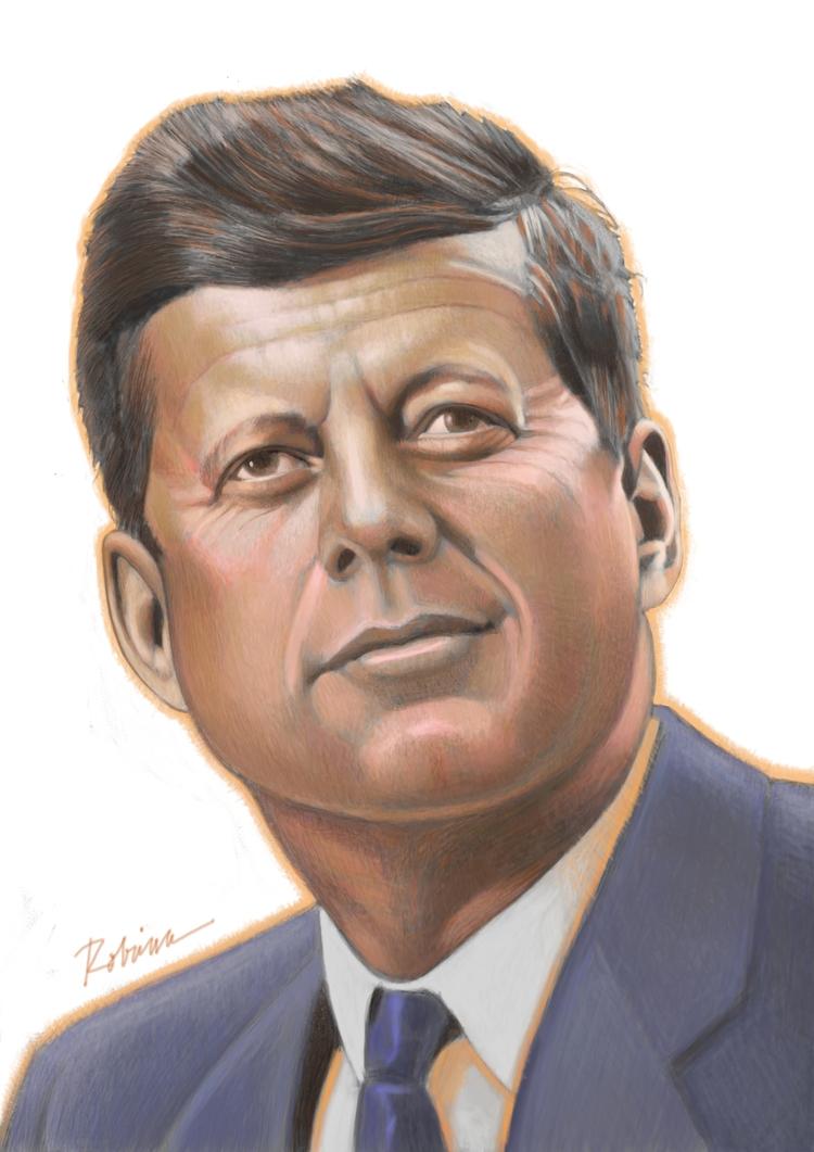 Portrait JFK - dwrobins2000 | ello