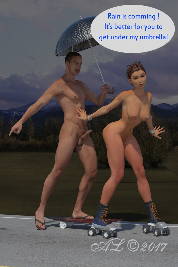 sex, rain, nude, skating, sport - franklange | ello