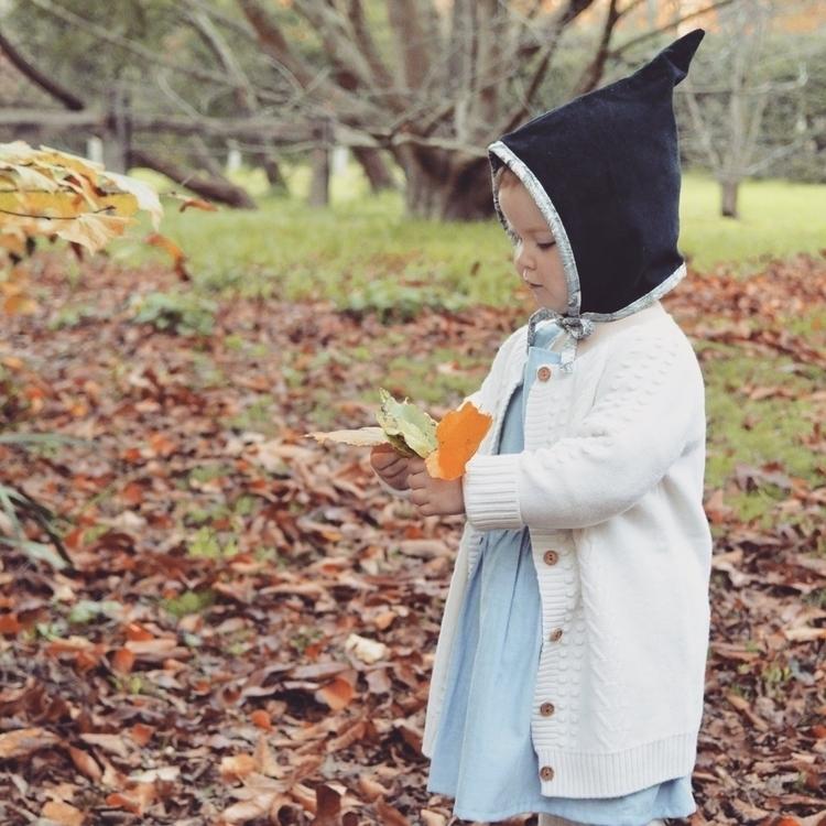 pixie bonnet? Navy cord floral  - indiandarrow | ello