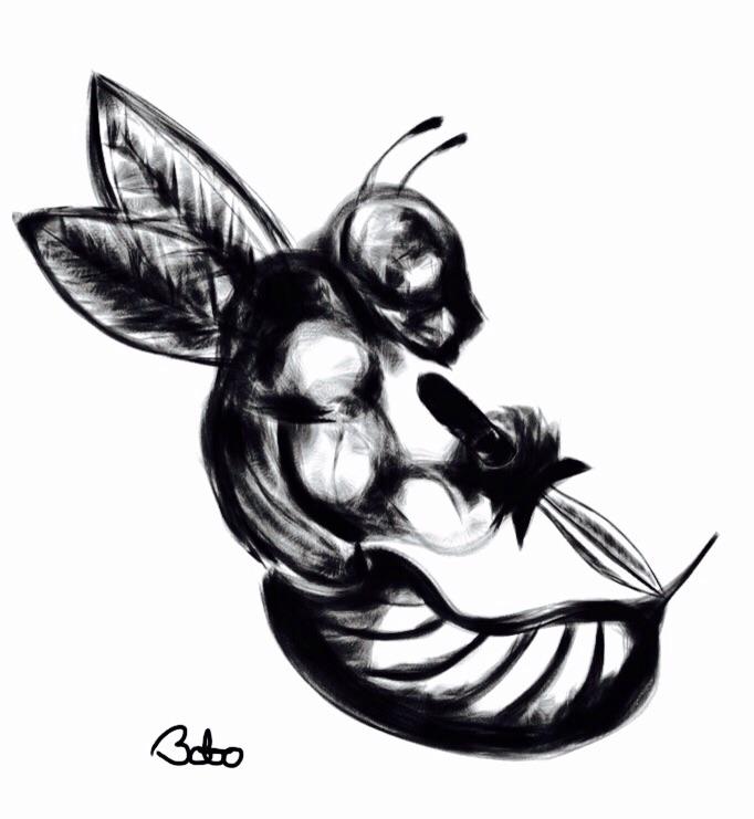 beeserker,, bee,, berserker, - bobogolem_soylent-greenberg | ello