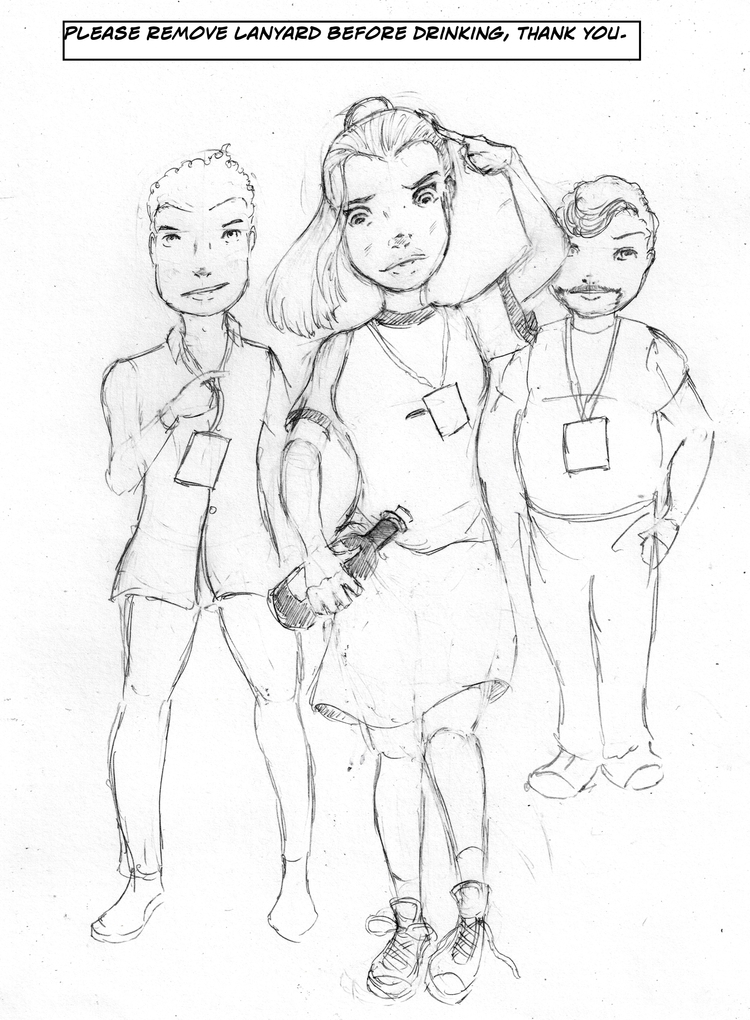 sketch, woman, profile, inked - adicarter | ello