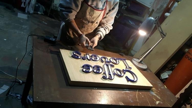 details - signmaking, lasercuting - unoestudio | ello