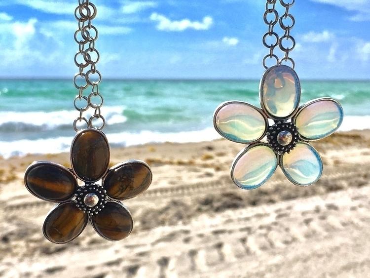 Opalite Tiger stone flowers FRI - aljewelers | ello