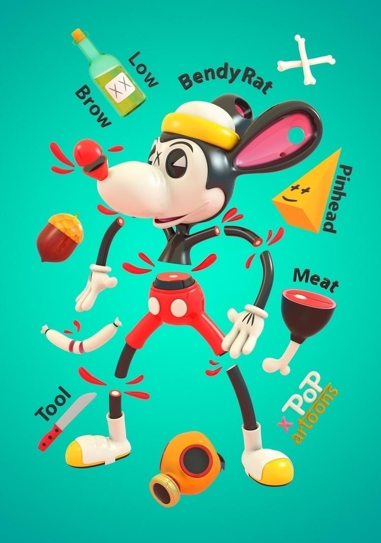 Bendy Rat - cartoons, popartoons - theodoru | ello