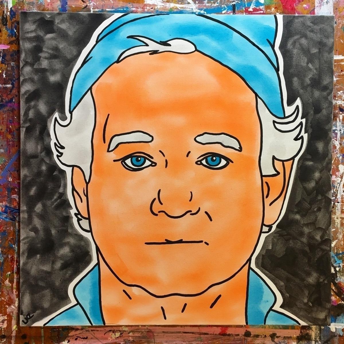Bill Murray acrylic - 24 - billmurray - lizkellyzook | ello