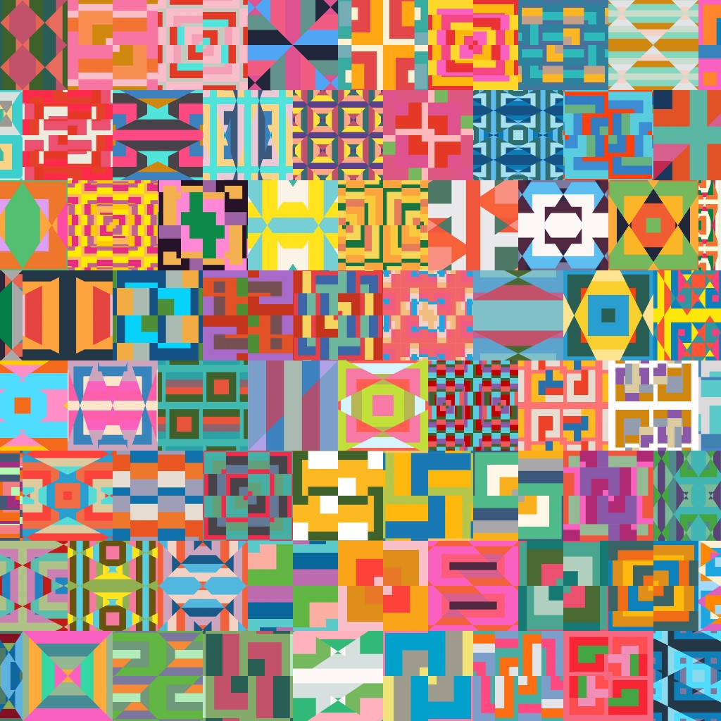 Procedural patterns. Generated  - yuyatakeda | ello