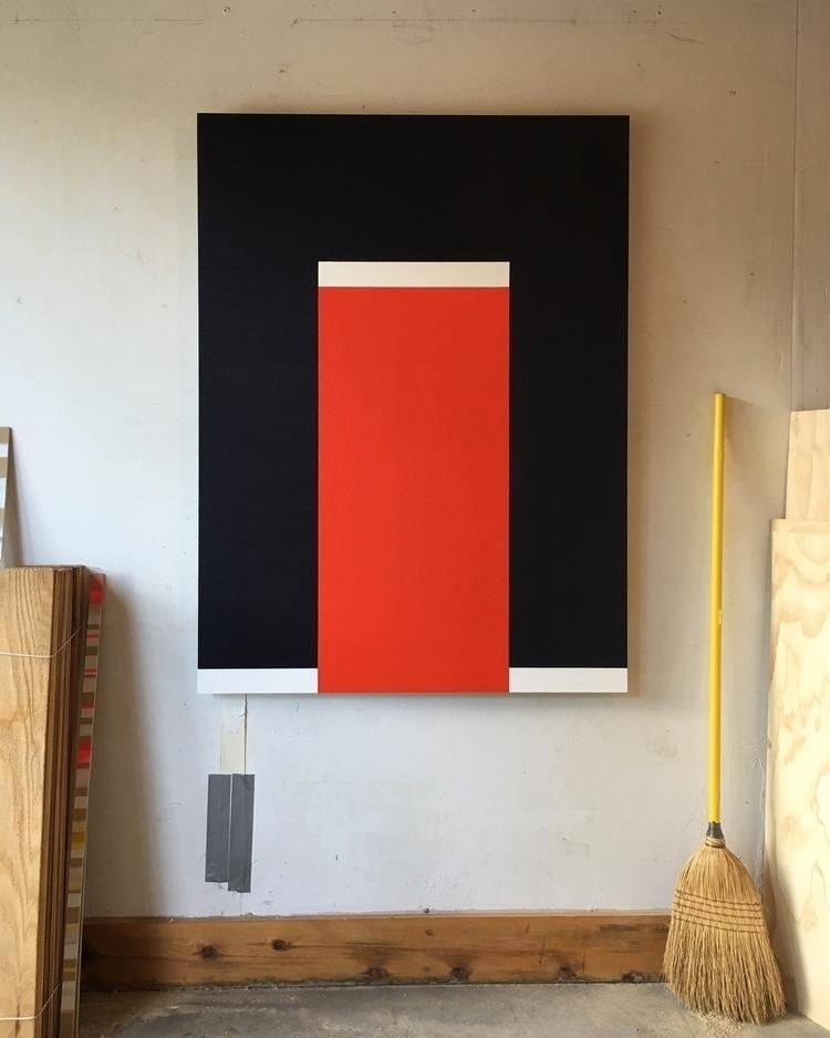 Breaker 36 48 Acrylic wood  - Colorfield - andrew_faris   ello