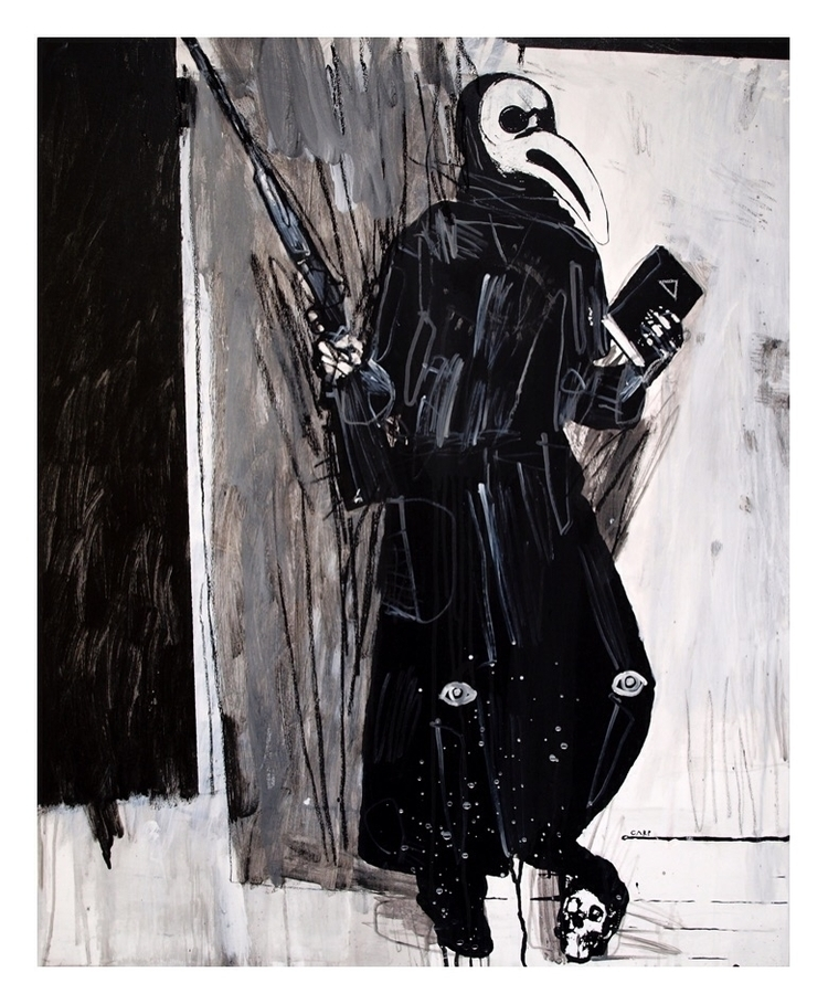 Plague doctor 2. 100x80cm, 2008 - carpmatthew | ello