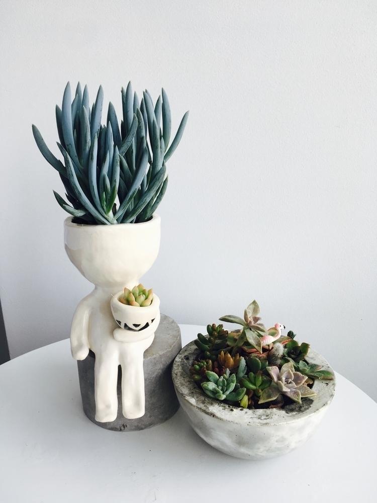 dude planter - succulents#ceramics#pottery#handmade#etsy - livingdecortwins   ello