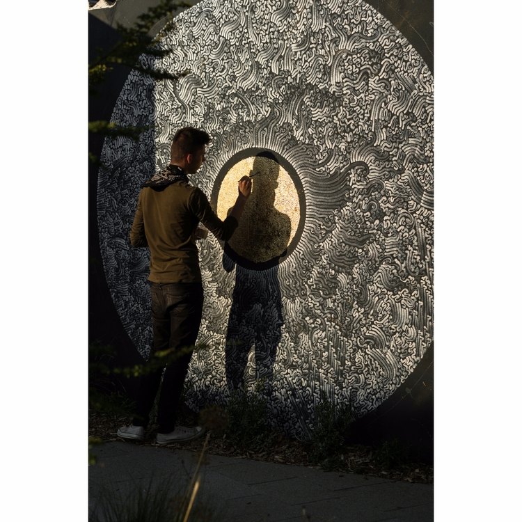 Shot process: circle ! mural. s - yellabor | ello