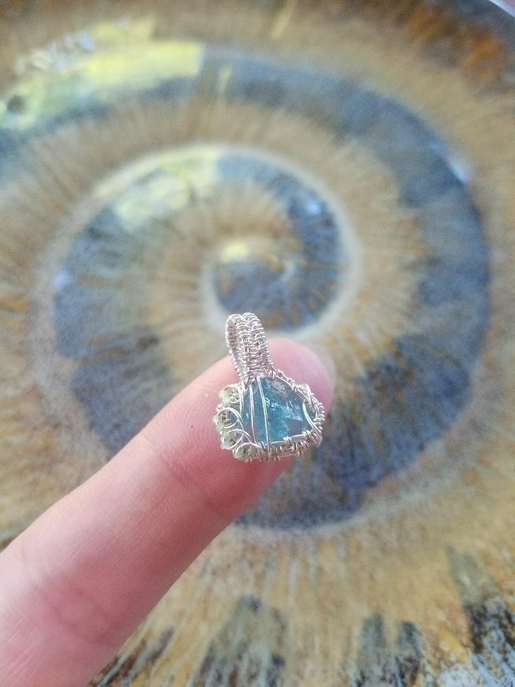 micro pendant! 26 28 gauge copp - wirewrappedyogi | ello