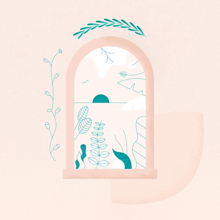 WINDOW PARADISE - window, illustration - gloriaciceri | ello