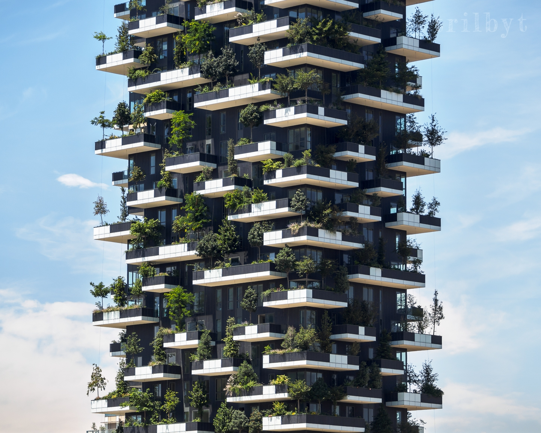 vertical Forrest. Milan, Italy  - trilbyt | ello