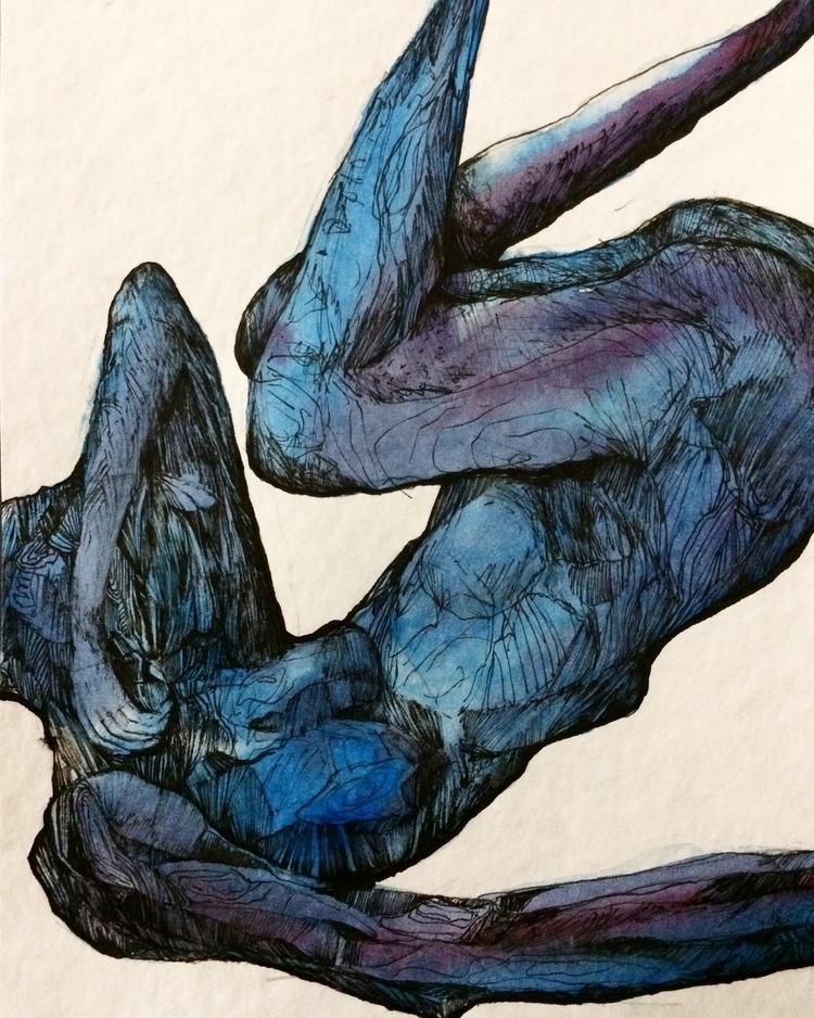 Title: corner couch - watercolor - jacobbayneartist | ello