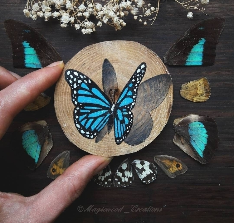 blue butterfly 🦋 - magical, magic - magicwood_creations | ello
